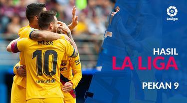Berita video hasil La Liga 2019-2020 pekan ke-9. Real Madrid kalah 0-1 dari Mallorca, Barcelona menang besar 3-0 atas Eibar.