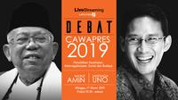 Live streaming debat cawapres 2019. (Liputan6.com)