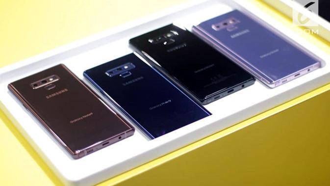Deretan warna smartphone Galaxy Note 9. Liputan6.com/ Aditya Eka Prawira#source%3Dgooglier%2Ecom#https%3A%2F%2Fgooglier%2Ecom%2Fpage%2F%2F10000