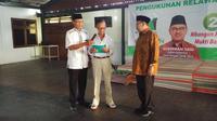 Tokoh Minang Magelang Letkol. (Pur) Nursid Desandes membacakan dukungan IKM Magelang kepada Cagub Sudirman Said (Dok. Tim Sudirman Said)