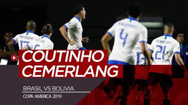 Berita video highlights Grup A Copa America 2019 antara Brasil melawan Bolivia yang berakhir dengan skor 3-0, Sabtu (15/6/2019).
