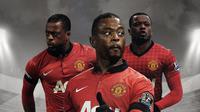 Patrice Evra saat membela Manchester United. (Bola.com/Dody Iryawan)