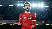 1. Mohamed Salah (Liverpool) - 28 Gol (1 Penalti). (AFP/Lindsey Parnaby)