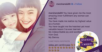 Kesedihan Marshanda karena menahan kerinduan yang begitu dalam pada putrinya, Sienna Ameerah Kasyafani.