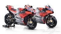 Andrea dovizioso berharap livery baru motor Ducati bisa mengantarkannya menjadi juara dunia MotoGP 2018. (Motorsport)
