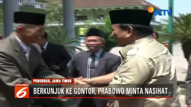 Sebelumnya, di Kabupaten Magetan, Prabowo juga menemui para tokoh agama untuk meminta doa restu dan nasihat yang baik.