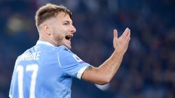 1. Ciro Immobile (Lazio) - 25 Gol (9 Penalti). (AFP/ Filippo Monteforte)