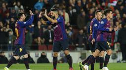 Kedigdayaan di La Liga, menembus final Copa del Rey dan semifinal Liga Champions menjadi modalnya. Di semifinal Liga Champions, Barcelona akan berhadapan dengan Manchester United yang tengah merasakan kebangkitan. (AFP/Pau Barrena)