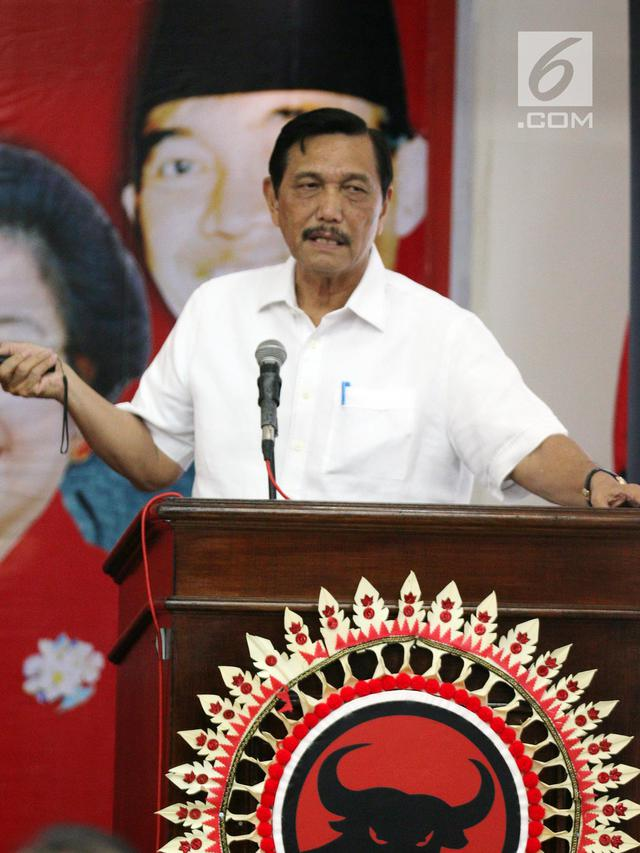 Menperin Airlangga dan Menko Luhut Hadiri Rakorbidnas III Kemaritiman PDIP