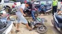 Perusakan motor karena tilang kembali terjadi