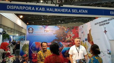 Pemkab Halmahera Selatan membuka stand di acara Deep and Extreme (DXI) 2019 yang berlokasi di Jakarta Convention Center, Jakarta. (Istimewa)