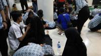 Sejumlah siswa salah satu SMA negeri di Tangerang, Banten, kesurupan massal di hotel kawasan Jalan Veteran, Umbulharjo, Yogyakarta. (Foto: Istimewa)