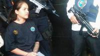 Wilaiwan Boonyiam saat diamankan petugas. (KRJogja.com/Karyono)