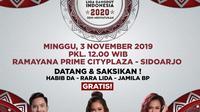 Demam LIDA 2020 digelar di Sidoarjo, Jawa Timur, Minggu (3/11/2019) mulai pukul 12.00 WIB