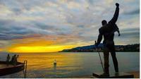 Patung Freddie Mercury di Montreux, Swiss. (dok.Instagram @javiorsanc/https://www.instagram.com/p/B19qQSfI0-Z/Henry