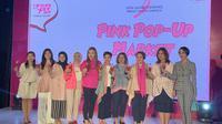 Pihak Estee Lauder dan Lovepink dalam pembukaan Pink Pop-up Market. (dok. Liputan6.com/Novi Thedora)