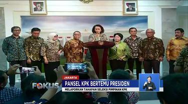 Bertemu panitia seleksi calon pimpinan KPK periode 2019-2023, Presiden Jokowi tegaskan tidak akan intervensi pemilihan pemimpin KPK.