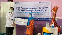 PT Surveyor Indonesia (Persero) kembali menyalurkan dua paket bantuan penanggulangan Covid-19