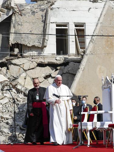 FOTO: Paus Fransiskus Kunjungi Bekas Ibu Kota ISIS di Irak