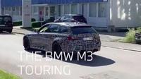 Bodi BMW M3 Touring dibungkus kamuflase. (Instagram @BMW)