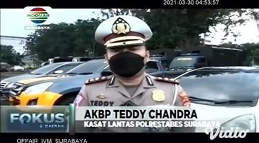 Patroli sepeda motor Tim Urai Satlantas Polrestabes Surabaya kini dilengkapi kamera canggih yang akan merekam para pelanggar lalu lintas.