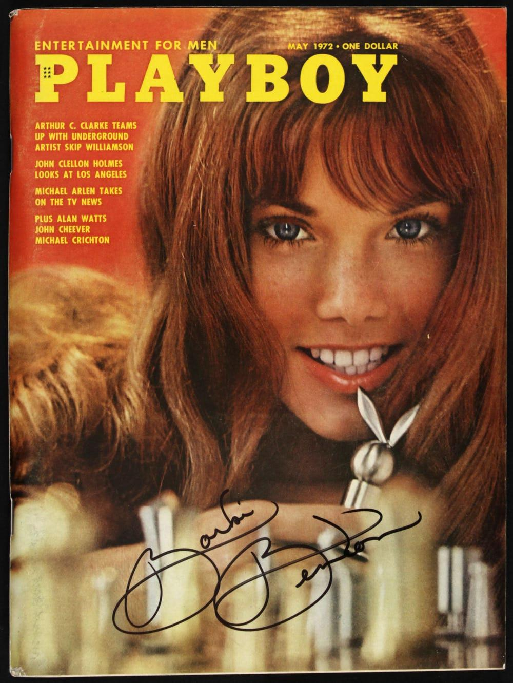 Model Playboy Barbi Benton saat berpose menjadi model cover (Foto: therichest.com)