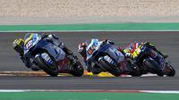Dua pembalap Pertamina Mandalika SAG Team, Tom Luthi dan Bo Bendsneyder pada balapan Moto2 Portugal di Sirkuit Portimao tanggal 18 Maret lalu. (Pertamina Mandalika SAG Team)
