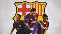 Barcelona - Ansu Fati, Lionel Messi, Pedri (Bola.com/Adreanus Titus)