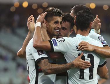 Foto: Bermain Tanpa Cristiano Ronaldo, Portugal Sukses Menang Telak di Laga Lanjutan Kualifikasi Piala Dunia 2022 Zona Eropa