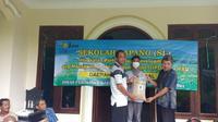 Kegiatan Sekolah Lapang IPDMIP di Daerah Irigasi Cikedal dilaksanakan di Sekretariat Poktan Berdikari, Kecamatan Pagelaran, Pandeglang, Banten, Kamis (25/3/2021).(Ist)