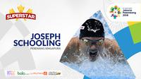 Superstar Asian Games, Joseph Schooling. (Bola.com/Dody Iryawan)