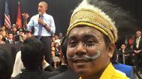 Billy saat berada di Amerika Serikat, saat mendapatkan undangan dari Young South East Asian Leaders Initiative dan bertemu dengan Barrack Obama. (Liputan6.com/Billy Mambrasar/Katharina Janur)