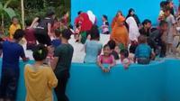 Kolam penampungan mata air putih bak susu jadi tempat wisata warga (Fauzan)