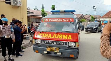 jenazah anggota MIT tiba di RS Bhayangkara Palu