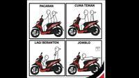 Berbagai hal bisa dijadikan Meme menarik, tidak terkecuali yang berkaitan dengan otomotif.(ist)