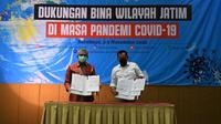 Tim Taskforce Kemenkes Wilayah Jawa Timur menggandeng Bina Wilayah Jawa Timur untuk menangani COVID-19 dalam pertemuan di Surabaya, Jawa Timur pada 3-5 November 2020. (Kementerian Kesehatan RI)