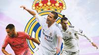 Real Madrid - Eden Hazard, Michael Owen, Gareth Bale (Bola.com/Adreanus Titus)