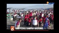 Peringati Hari Sampah Nasional, Polda NTB ajak masyarakat bersihkan Pantai Tanjung Karang, Mataram.