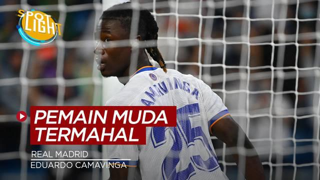 Berita video spotlight kali ini membahas tentang empat pemain muda yang dibeli Real Madrid dengan harga tinggi, salah satunya ialah Eduardo Camavinga.