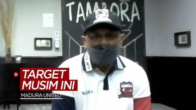 Berita video Pelatih Rahmad Darmawan mengungkapkan target Madura United di BRI Liga 1 2021/2022.