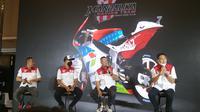 Mandalika Racing Team Indonesia resmi diluncurkan dengan Dimas Ekky Pratama sebagai pembalap, tapi ada satu pembalap yang dirahasiakan (Liputan6.com/Defri Saefullah)