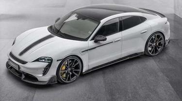 Porsche Taycan listrik jadi lebih sporty berkat modifikasi dari Mansory