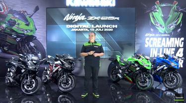 PT Kawasaki Motor Indonesia akhirnya meluncurkan Ninja ZX-25R secara resmi, Jumat (10/7/2020).