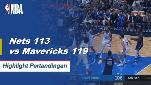 Harrison Barnes mencetak 28 poin dan Luka Doncic menambah 21 poin dan 9 rebound saat Dallas mengalahkan Brooklyn, 119 - 113