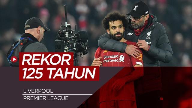 Berita video Liverpool cetak rekor baru di Premier League yang tidak pernah terjadi selama 125 tahun.