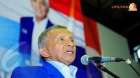 Amien Rais berjanji partai yang kini dipimpin Hatta Rajasa akan lebih fokus soal penegakan hukum tanpa tebang pilih, terutama pada kasus korupsi yang saat ini sudah sangat akut.  (Liputan6.com/Faisal R Syam)