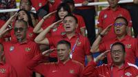 Ketua PSSI Mochamad Iriawan, Mendukung langsung Timnas Indonesia U-22 saat melawan Thailand pada laga SEA Games 2019 di Stadion Rizal Memorial, Selasa (26/11/2019). Indonesia menang 2-0. (Bola.com/M Iqbal Ichsan)