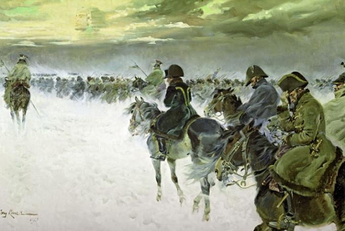Napoleon mundur dari Moskow 1927 (RBTH Indonesia)