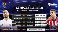 Streaming La Liga Spanyol Pekan Ke-35 di Vidio. (Sumber : dok. vidio.com)