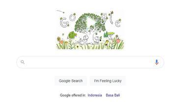 Tangkapan layar Google Doodle dalam menyambut Hari Bumi 2021